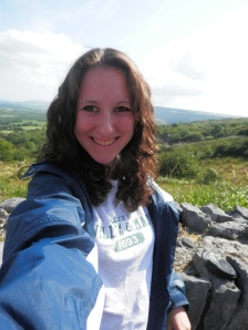 Pulling an Erin and taking a selfie at the Burren